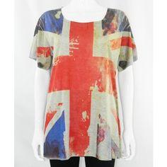 England Flag Print Casual T-Shirt http://www.trendzystreet.com/clothing/tops-blouses/flag-top-tzs5847