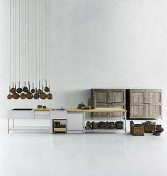 Kompakt-Küchen: Küche Open von Boffi - kitchens