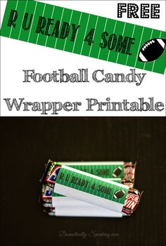 Football Candy Bar Wrapper Printable