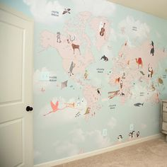 Little Hands Wallpaper | World Map | Mapa Mundi | Quarto | Bedroom | Decor | Decoration | Design | Home