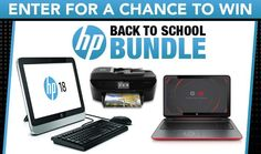 Check out this Sweepstakes! Win a HP Back To School Bundle!