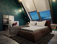 Realistic 3d rendering of a bedroom