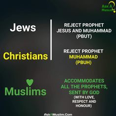 The prophets in #Islam.