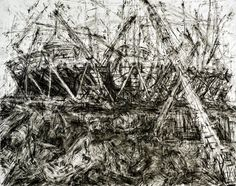 Jeanette Barnes Woop Olympic stadium going up ! pencil layers oh yeah Man Made Environment, Built Environment, Boyle Family, Flotsam And Jetsam, Berenice Abbott, Drawing Skills, Art Google, Cool Drawings, Light In The Dark