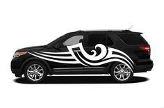 Auto Vinyl Art Pattern Mural Decal Car Window Sticker Premium 4 Season All Weather Sport Truck Door Tribal Stripes Racing Speed AF45