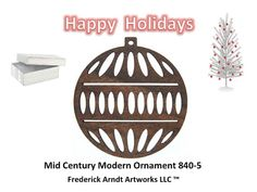 Mid Century Modern Ornament 8405 by FredArndtArtworks on Etsy, $14.95