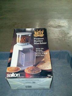 VINTAGE SALTON JUST NUTTY PEANUT BUTTER MAKER MACHINE PB-1 NEW #Salton