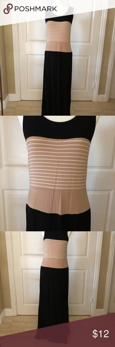 Black & Tan Maxi Dress NWOT. Black and tan maxi dress. The perfect, casual dress to flaunt your curves. Sexy AND comfortable - the best combo! Design History Dresses Maxi