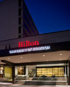 Hilton University of Houston:  Student run hotel for their Hospitality school and extremely good service since I'm sure their grades depend on it.  Rooms are very modern and the best perk is you get access to their campus gym, which is pretty well equiped.  I would stay here again. University Of Houston, Dream Big, Hospitality, Interior Architecture, The Help, Collage, Rooms, Student, Gym