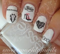 Wedding Nail Art Water Decals Transfers