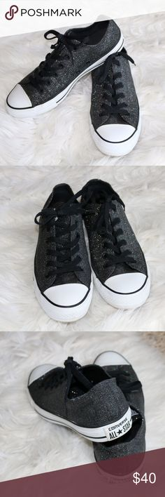 Like new 🖤Black Glitter Converse🖤 Worn only a couple times! Like new condition. Converse Shoes Sneakers