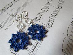 Cobalt Earrings via Craftsy