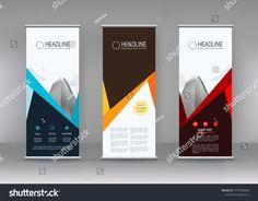 Vector Vertical Banner Banner Design Three Stock Vector (Royalty Free) 1317935669