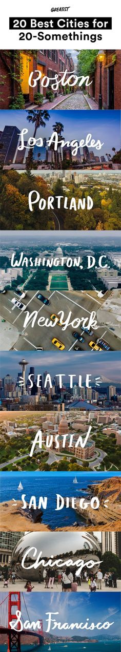New York is still the concrete jungle where dreams are made of, but some of these other places might surprise you.  #travel #city http://greatist.com/health/20-best-cities-20-somethings