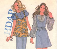 1970s Blouse or Dress Pattern McCalls 3683 Size by OneMoreCupOfTea, $6.00