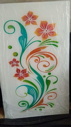 eching Colour design on white lacquer