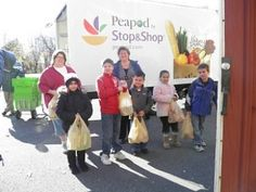 Kids from Ansonia, CT donate food as part of Peapod's Kids Give Back program