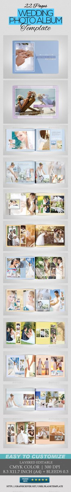 Wedding Photo Album — Photoshop PSD #multiple purposes #horizontal • Available here → https://graphicriver.net/item/wedding-photo-album/10323423?ref=pxcr