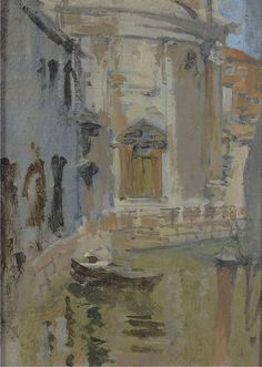 Walter Sickert - A Quiet Canal, Venice Building Painting, Types Of Painting, Walter Sickert, Chaim Soutine, Venice Painting, Object Photography, Urban Landscape, American Artists, Painting Inspiration