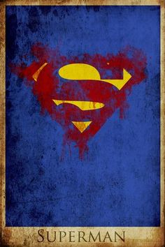 Minimalist style Superman poster. Legit.