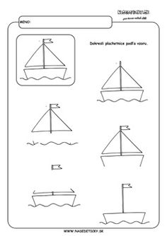 Dokresľujeme plachetnice. - Aktivity pre deti, pracovné listy, online testy a iné