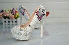 Fashion Flowers Pearl Diamond Women Wedding Shoes High Heel Shoes Bridal Shoes Women Pumps 2    https://www.lacekingdom.com/   Lace Kingdom: Everything You Need for #Weddings & Events