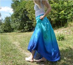Moře až domů :)...dlouhá hedvábná sukně