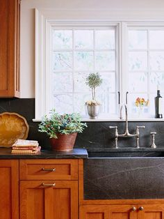 44 Trendy Kitchen Countertops And Backsplash Soapstone Counters Soapstone Counters, Backsplash With Dark Cabinets, Black Countertops, Kitchen Backsplash, Kitchen Countertops, Black Backsplash, Backsplash Arabesque, Soapstone Kitchen, Hexagon Backsplash