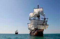 16 - La expedición compuesta de dos naves con unos 160 hombres zarpó de el Callao el 20 de noviembre de 1567 pero, en lugar de seguir la ruta trazada por Sarmiento, Mendaña la modificó según recomendación del piloto mayor, Hernán Gallego.