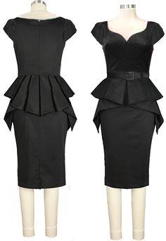 Retro Peplum Dress