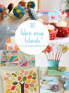 burlap and blue - 30 fabric scrap tutorials