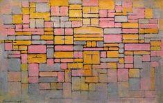 Composition, V - (Piet Mondrian)