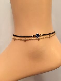 A personal favorite from my Etsy shop https://www.etsy.com/listing/578152779/evil-eye-anklet-ankle-bracelet-birthday