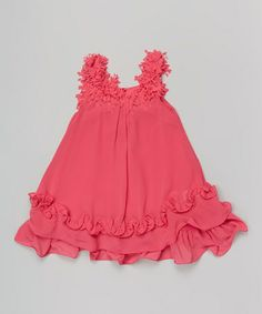 Pink Fringe Ruffle Swing Dress - Toddler & Girls #zulily #zulilyfinds