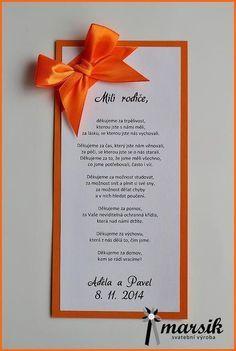 poděkování rodičům.. Wedding Tips, Wedding Cards, Wedding Day, Diy And Crafts, Wedding Decorations, Geek Stuff, Wedding Inspiration, Weddings, Health