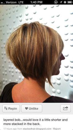 Bob hair cut - this makes me want to cut my hair