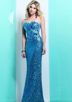 Faviana Glamour S7151 Turquoise Ashley Benson Prom Dress