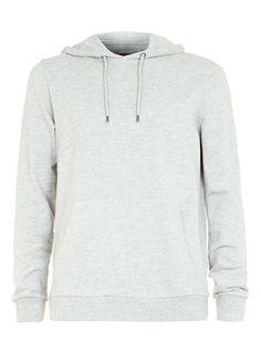 Grey Classic Fit Hoodie - Men's Hoodies & Sweatshirts - Clothing - TOPMAN USA