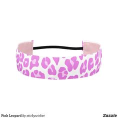 Pink Leopard Athletic Headband