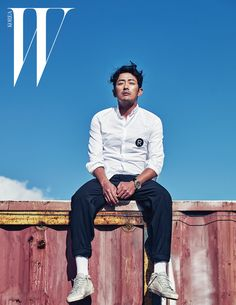 Ha Jung-woo wears total look by Golden Goose Deluxe Brand for W Mag Korea -Photographed by Kim Young Jun Mens Style Looks, Men Looks, Men's Style, W Korea, Jung Suk, Male Magazine, Guy Pictures, The Life, Korean Actors