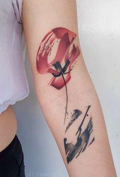 Lee Stewart poppy tattoo