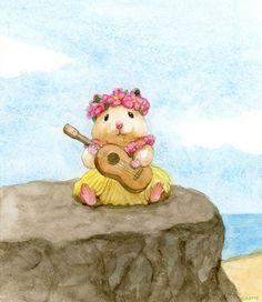 Japanese Hamster, Hamster Live, Illustration Art, Illustrations, Cute Animal Illustration, Cute Hamsters, Dibujos Cute, Cute Animal Drawings, Cute Cartoon Wallpapers