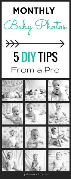 Capture your baby's first year in photos with these fail-proof baby photography tips! You don't have to spend a fortune to get the perfect baby photos. I've got step by step instructions to help to ROCK the camera yourself!