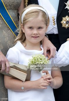 Princess Catherina Amalia At The Wedding Of Crown Princess Victoria Of Sweden And Daniel Westling At Stockholm Cathedral.