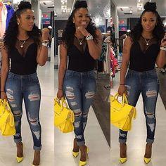 Rasheeda from ❤️ Teen Fashion Outfits, Dope Outfits, Diva Fashion, Fashion Killa, Look Fashion, Casual Outfits, Womens Fashion, Fashion Trends, Casual Chic