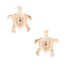 PRATAMANIA - Brinco Pratamania tartaruga - dourado - OQVestir