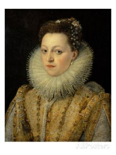 Portrait of Maria D'Aviz of Portugal  By: Frans Pourbus II
