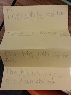 Saddle up for Second Grade: Expanding Sentences