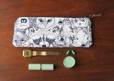 animal faces pencil case/ zipper pouch https://www.etsy.com/shop/trelabela