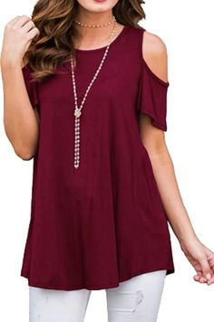 Cold Shoulder Shirt, Shoulder Tops, Sexy Blouse, Loose Tops, Shirt Blouses, Shirts, Blouses For Women, Cute Outfits, Tunic Tops